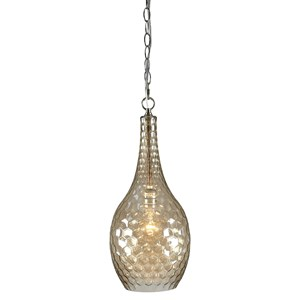 Signature Design by Ashley Pendant Lights Avigail Champagne Glass Pendant Light