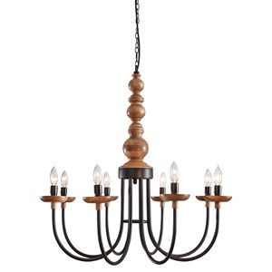 Signature Design by Ashley Pendant Lights Fabrice Black/Natural Metal Pendant Light