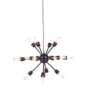Signature Design by Ashley Pendant Lights Jesenia Black/Nickel Metal Pendant Light