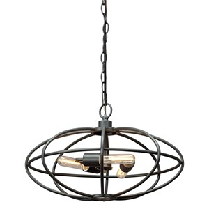 Kenturah Gray Metal Pendant Light