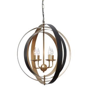Makani Black/Gold Finish Metal Pendant Light