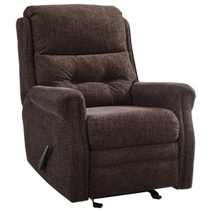 Traditional Glider Recliner with Tufted Back
