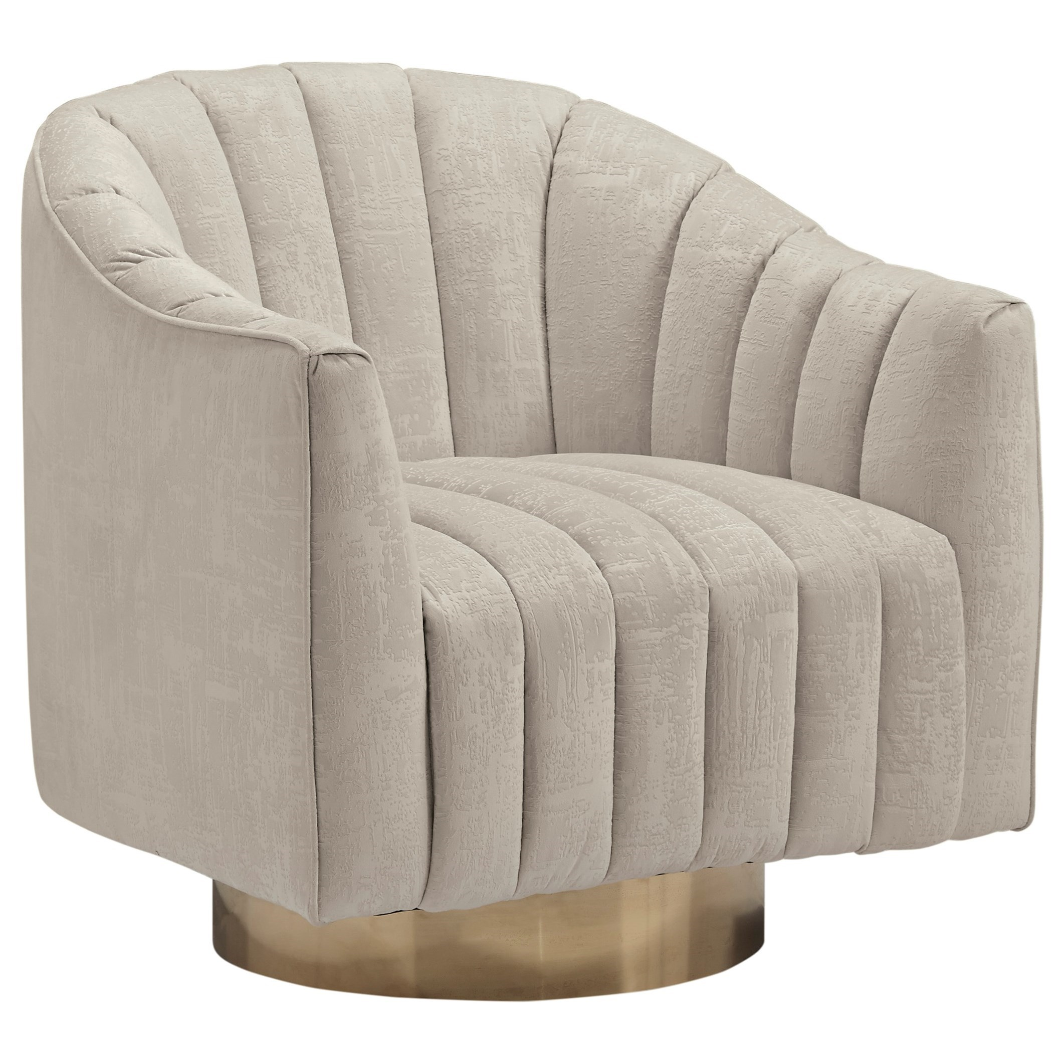 Penzlin Swivel Accent Chair by Signature at Walker's Furniture