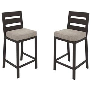 Set of 2 Barstools with Cushion