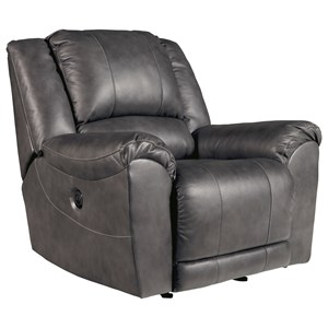 Leather Match Power Rocker Recliner