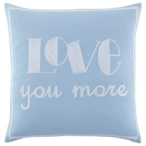 Signature Design by Ashley Pillows Love You More Blue Pillow