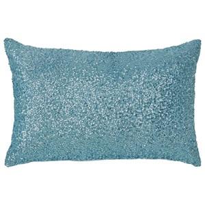 Signature Design by Ashley Pillows Arabelle Aqua Pillow