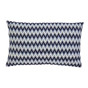 Signature Design by Ashley Pillows Embroidered - Navy Lumbar Pillow