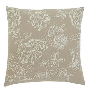 Signature Design by Ashley Pillows Embroidered - Natural Pillow Cover