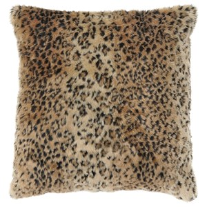 Signature Design by Ashley Pillows Rolle Brown Leopard Pillow