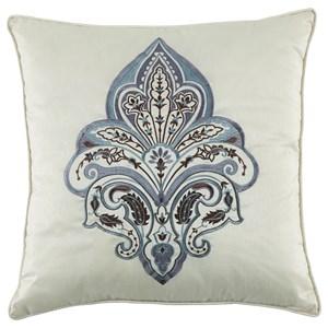 Signature Design by Ashley Pillows Mykel Cream/Blue Pillow