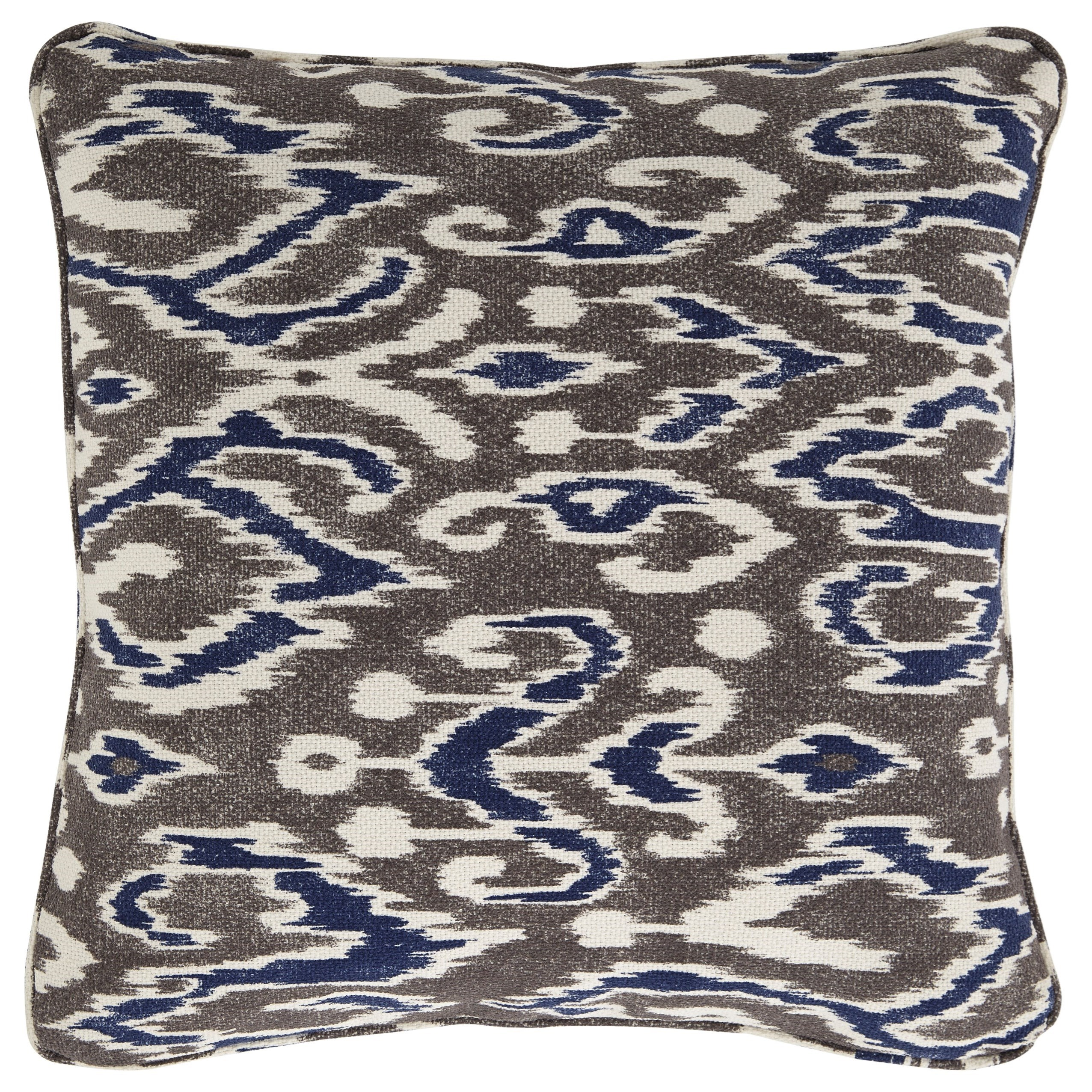 Pillows Kenley Blue/Brown Pillow by Ashley (Signature Design) at Johnny Janosik