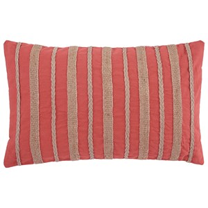 Signature Design by Ashley Pillows Zackery Coral Pillow