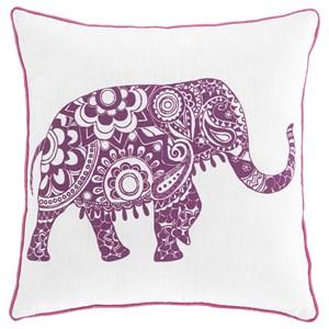 Medan White/Purple Pillow