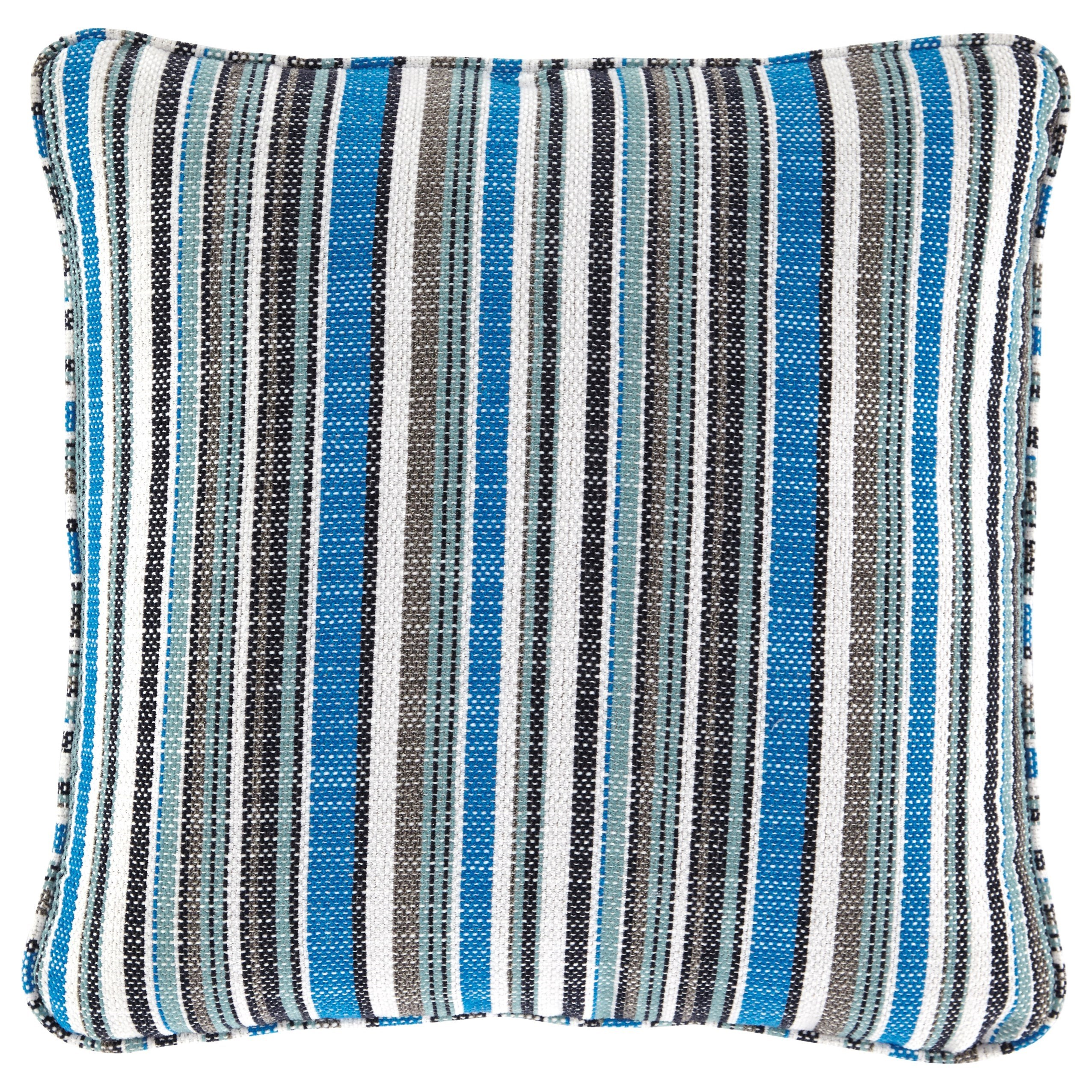 Pillows Meliffany Stripe Pillow by Ashley (Signature Design) at Johnny Janosik