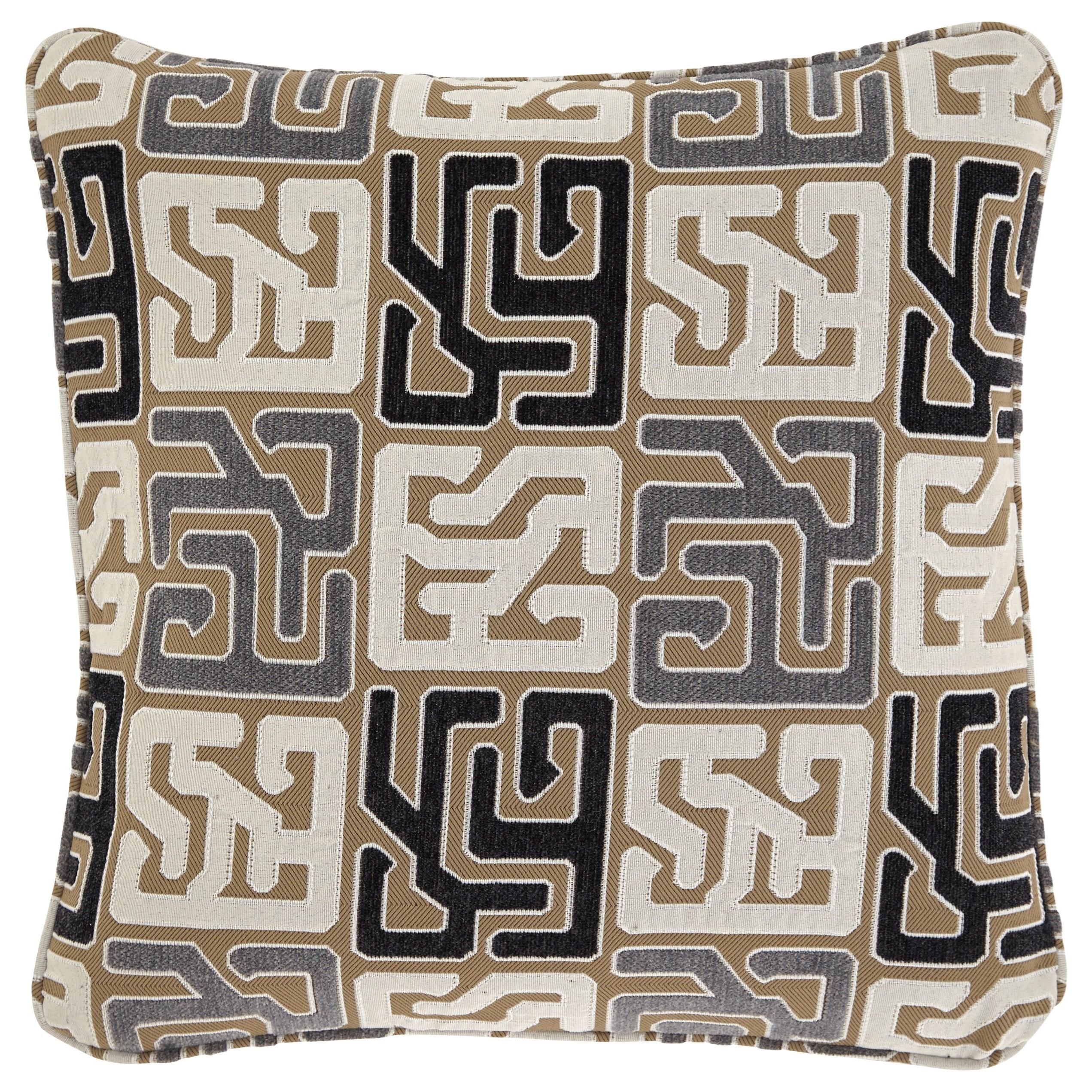 Pillows Tillamook Black/Tan/Gray Pillow by Signature Design by Ashley at Dream Home Interiors