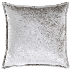 Melaney Silver Pillow, Crushed Velvet with Feather Fill