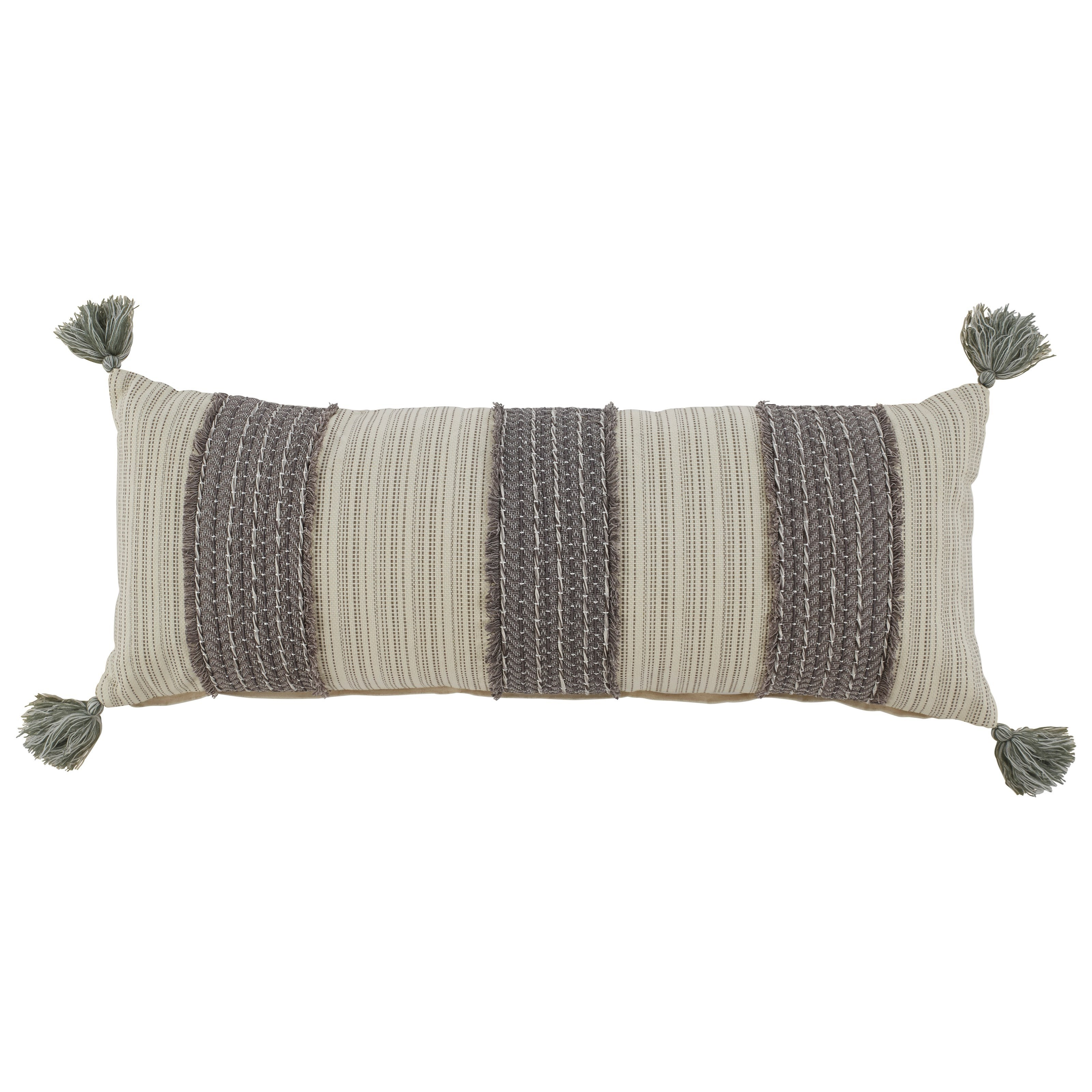 Pillows Linwood Gray/Cream Pillow by Ashley (Signature Design) at Johnny Janosik