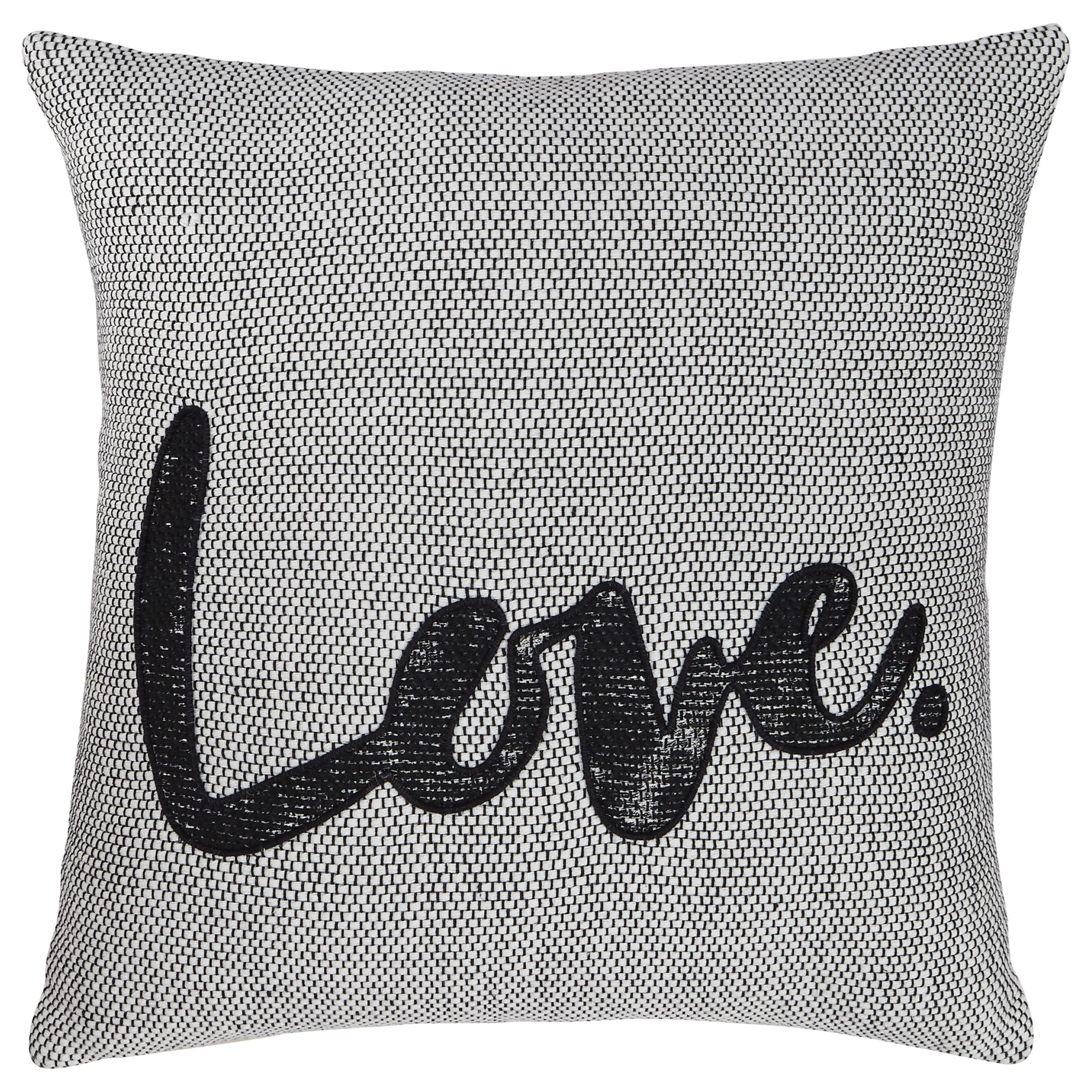 Pillows Mattia White/Black Pillow by Ashley (Signature Design) at Johnny Janosik
