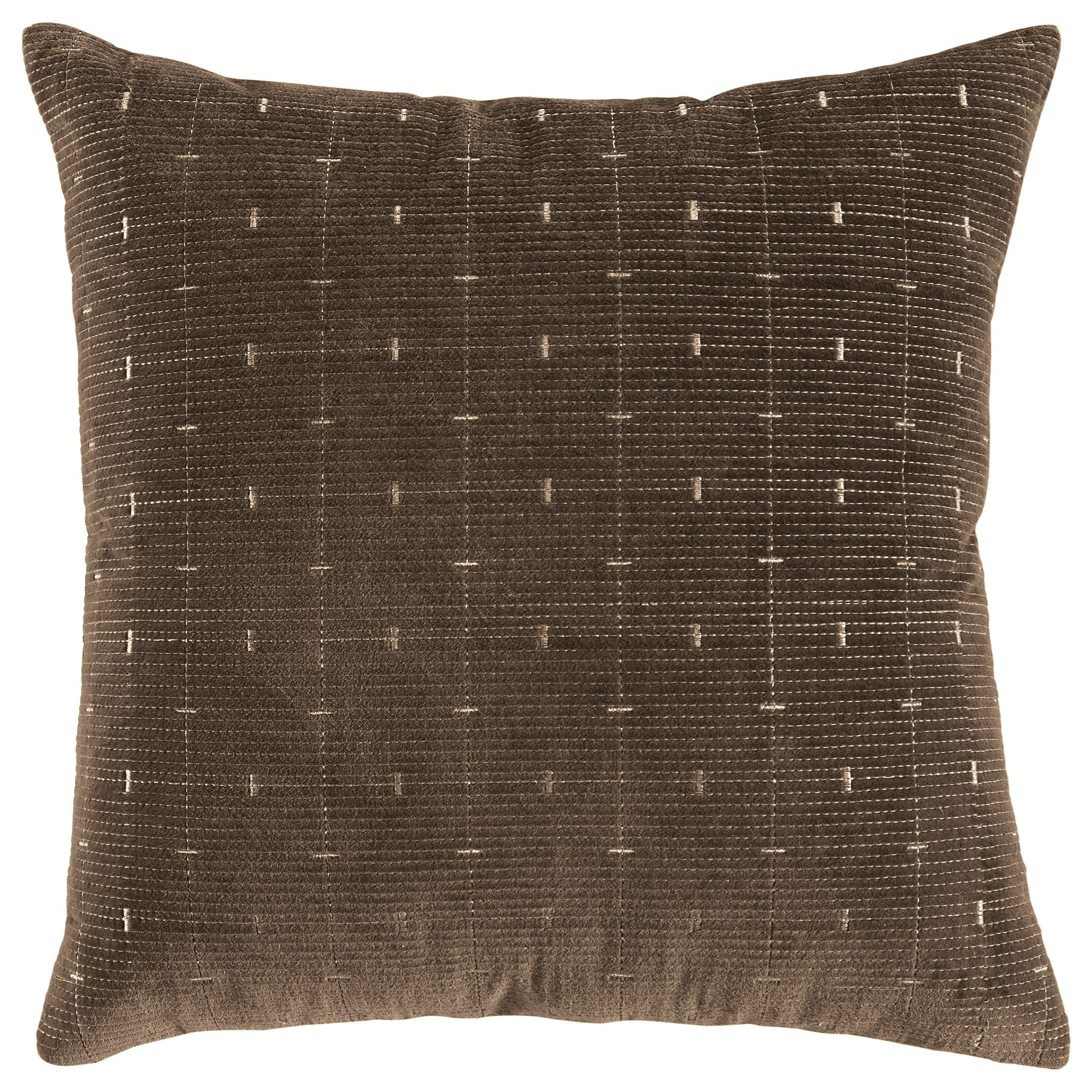Pillows Quimby Brown Pillow by Ashley (Signature Design) at Johnny Janosik
