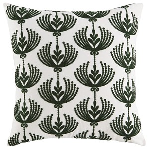 Dowden Cream/Emerald Pillow