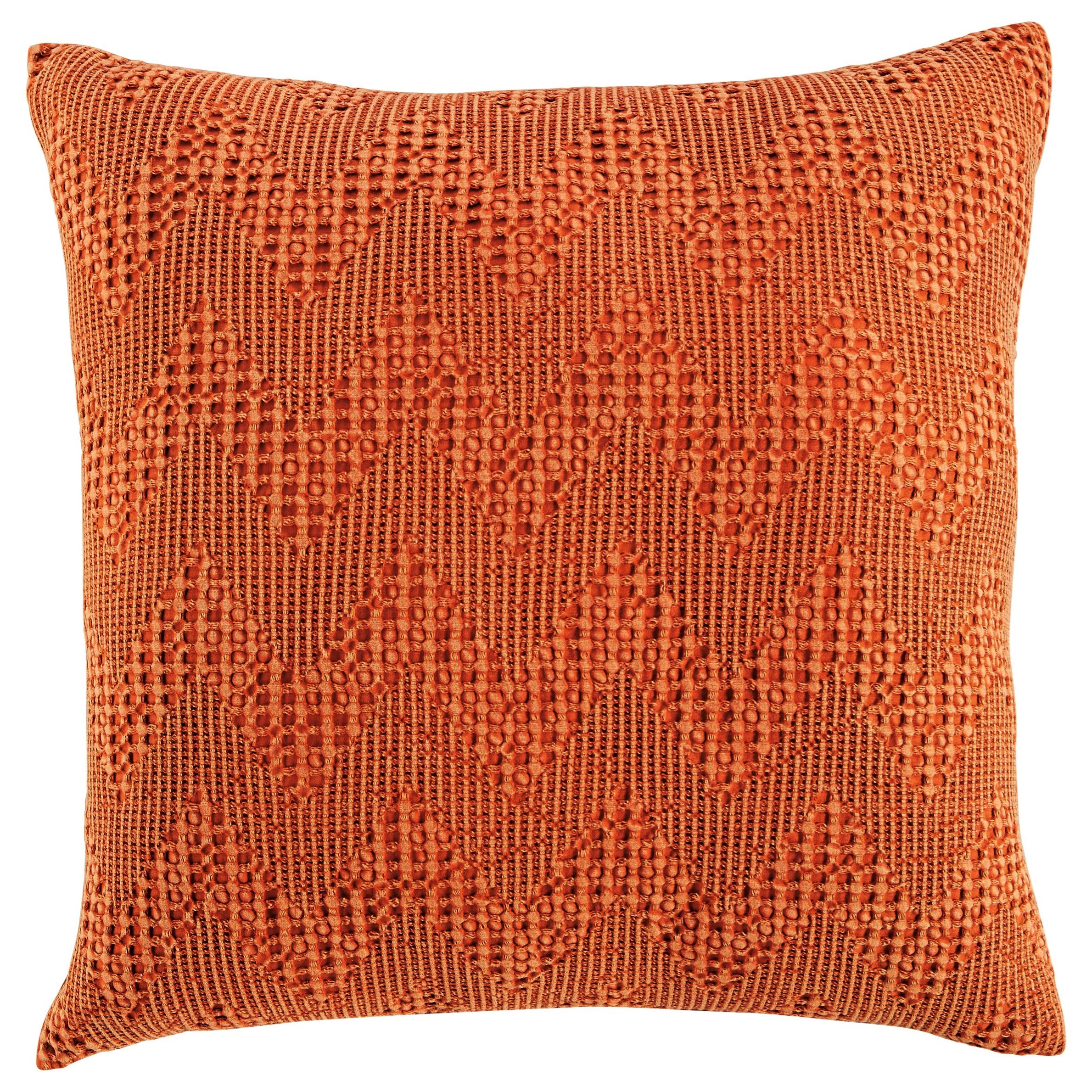 Pillows Dunford Rust Pillow by Signature Design by Ashley at Northeast Factory Direct