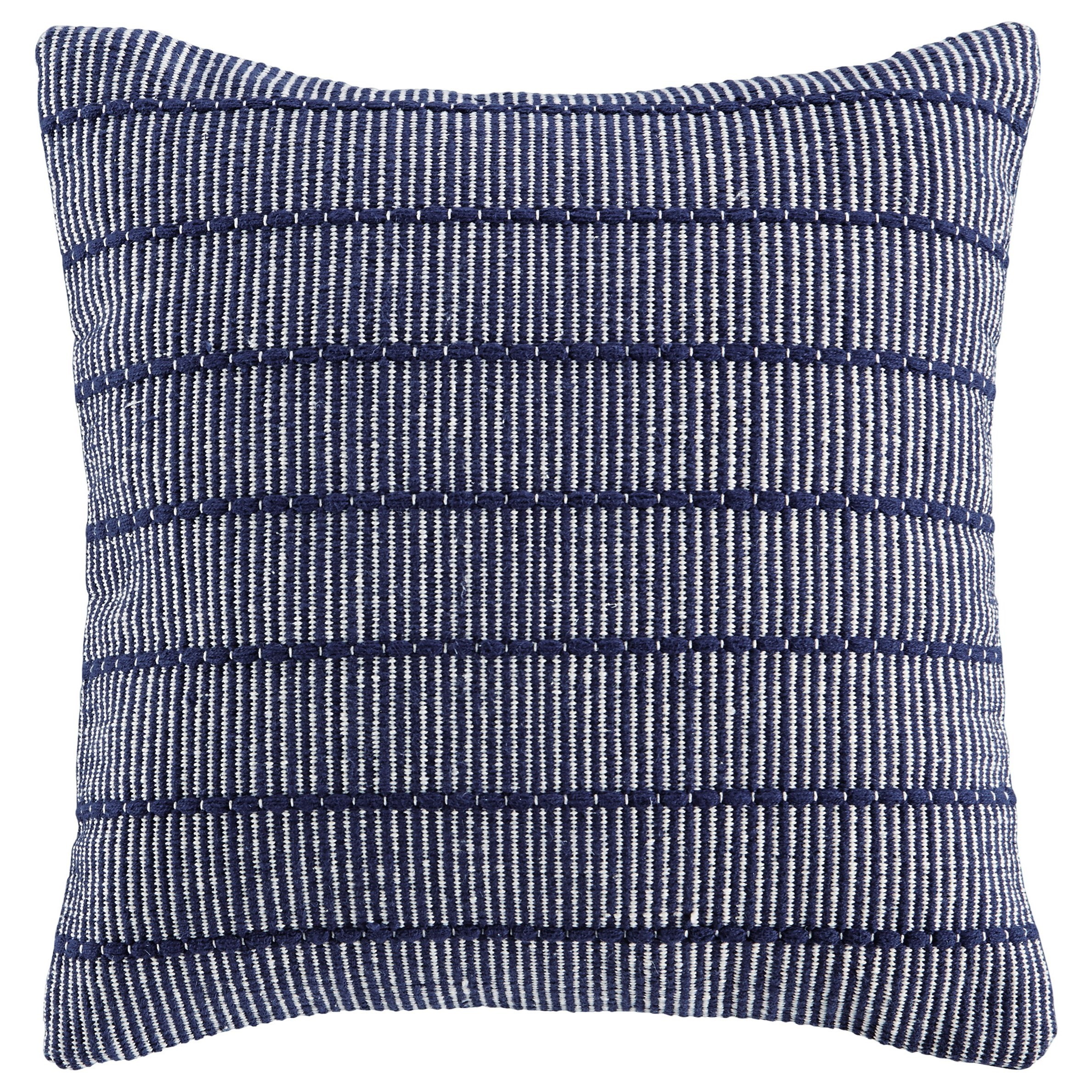 Pillows Rabia Navy Pillow by Ashley (Signature Design) at Johnny Janosik