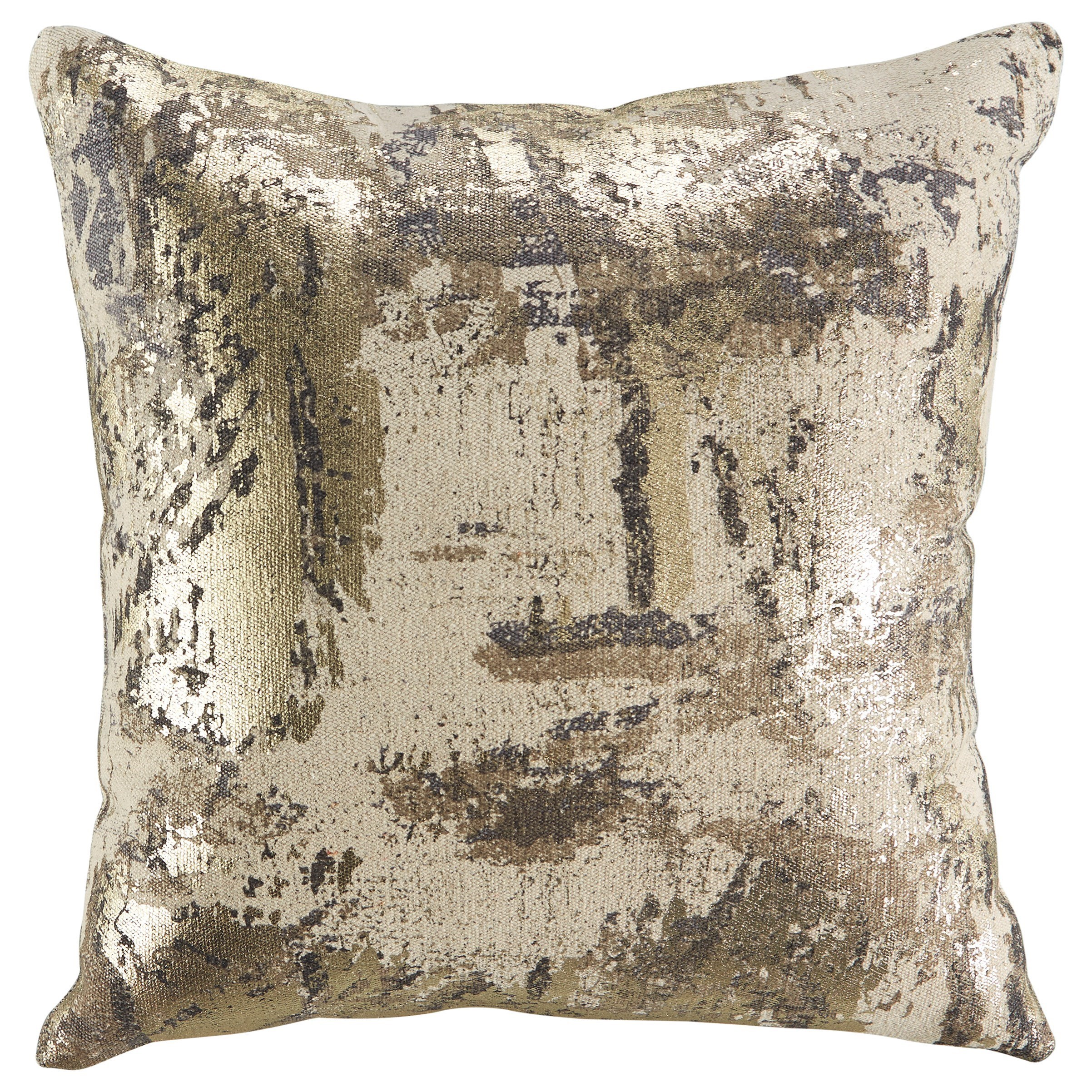 Pillows Esben Natural/Gray/Taupe Pillow by Ashley (Signature Design) at Johnny Janosik