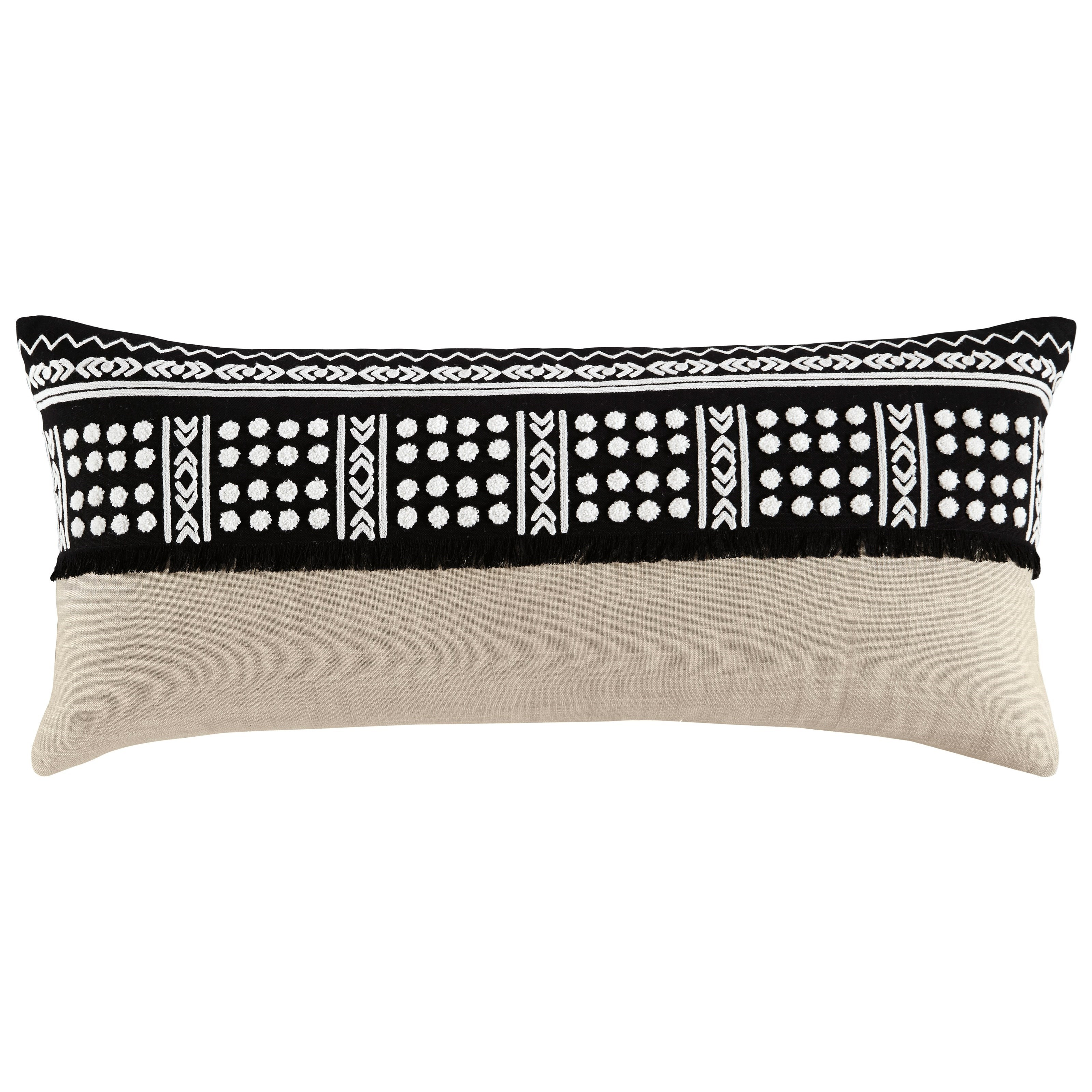 Pillows Mateja Black/Natural Pillow by Signature Design by Ashley at Northeast Factory Direct
