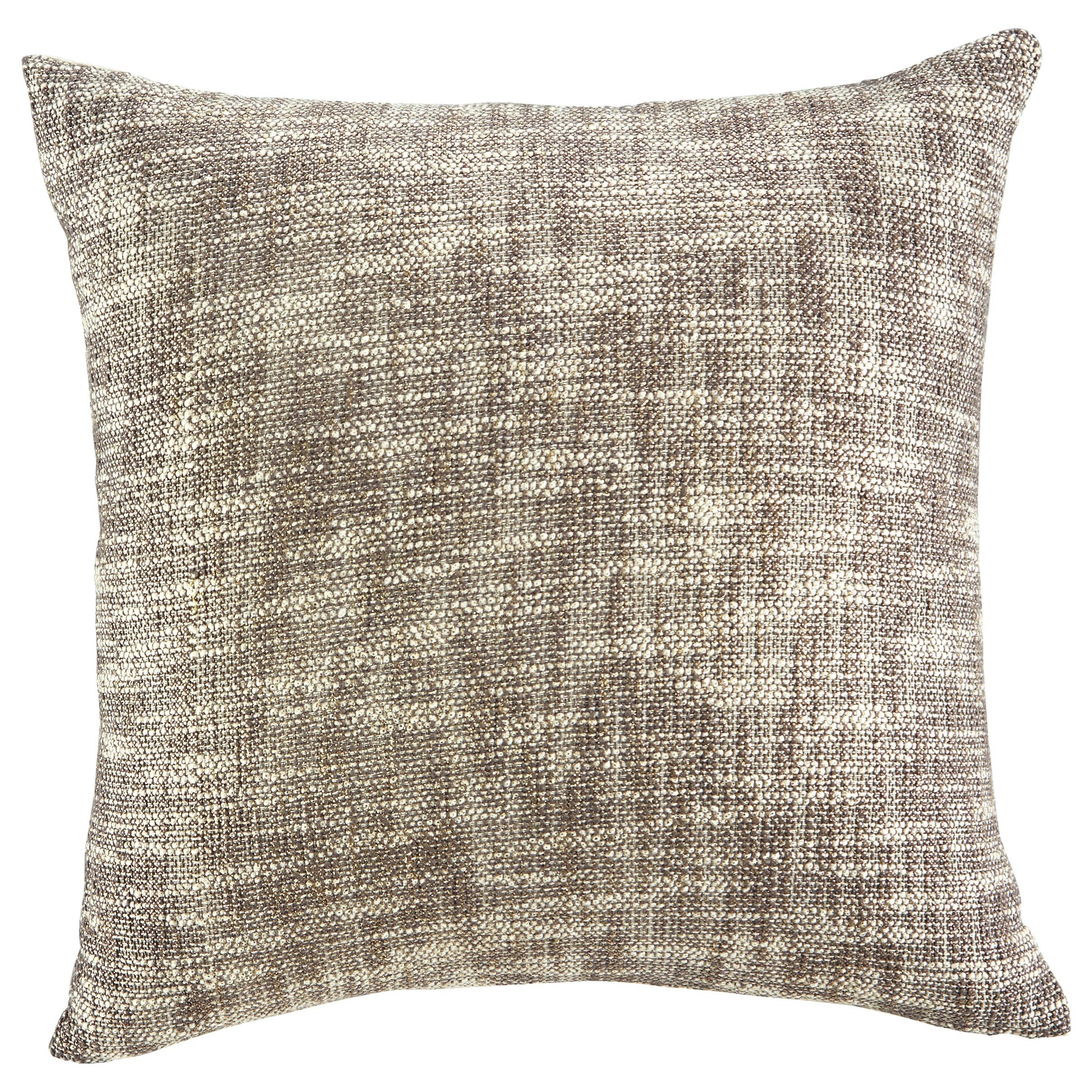 Pillows Hullwood Natural/Taupe Pillow by Ashley (Signature Design) at Johnny Janosik