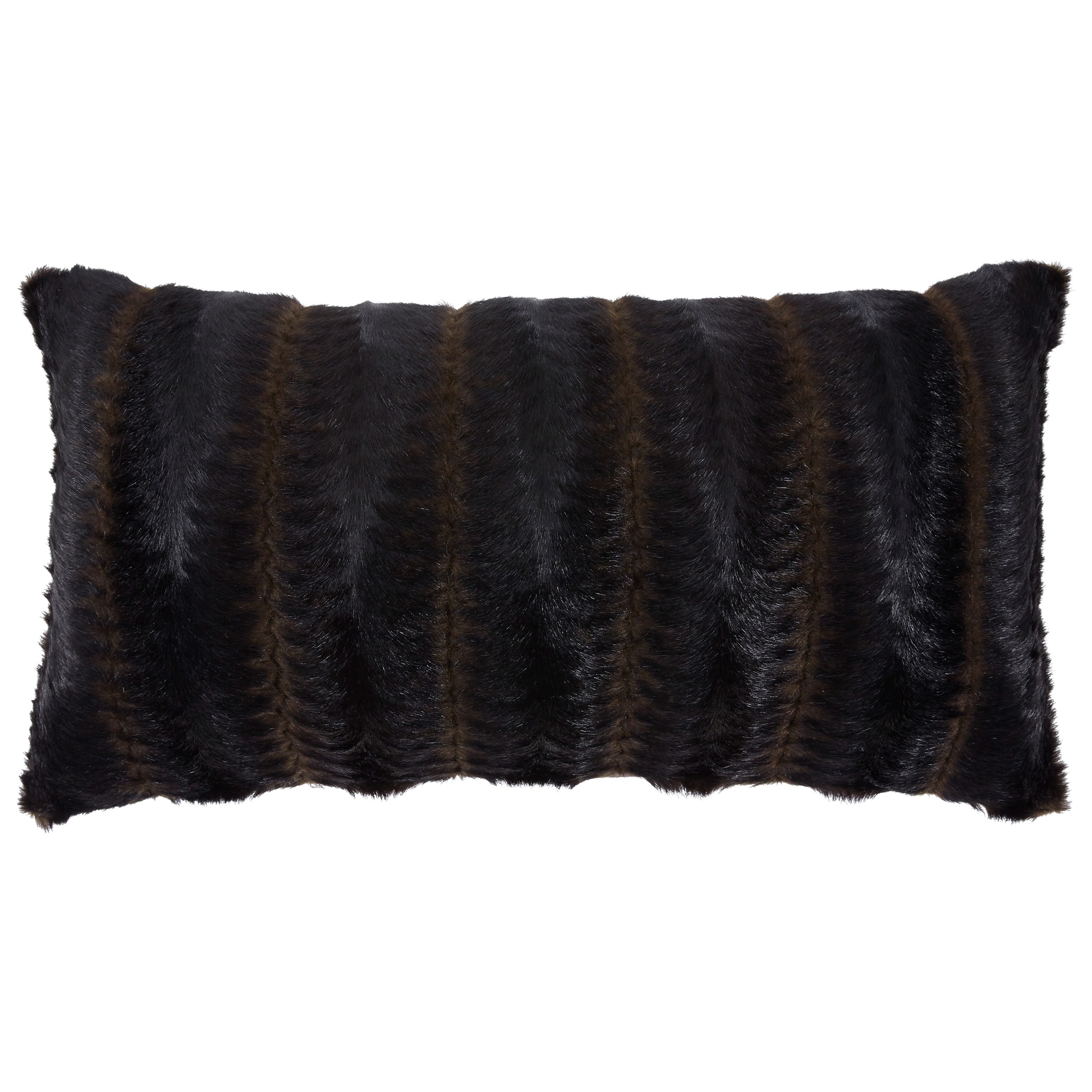 Pillows Elvena Brown/Black Faux Fur Pillow by Signature Design by Ashley at Northeast Factory Direct