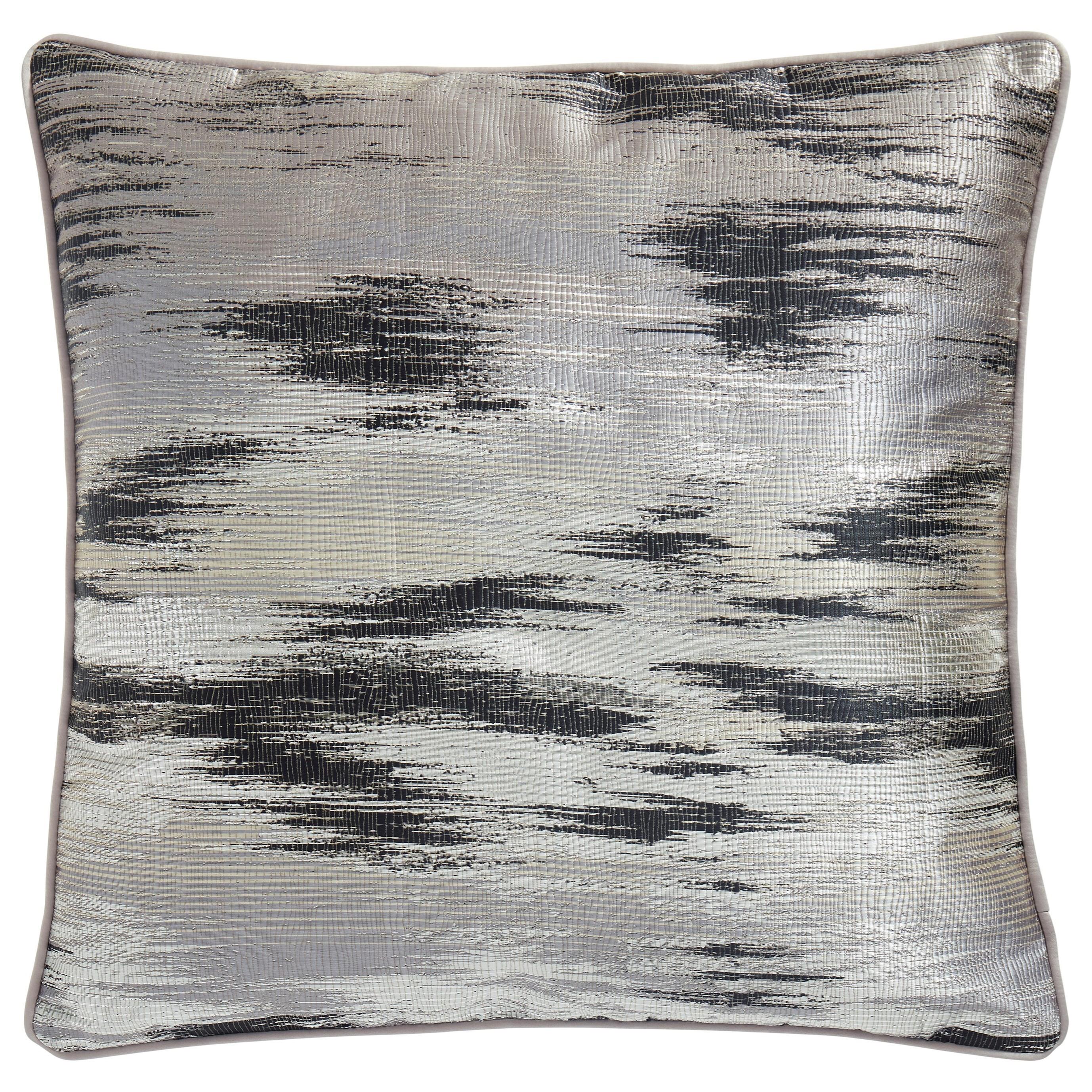 Pillows Martillo Silver/Black Pillow by Signature Design by Ashley at Dream Home Interiors