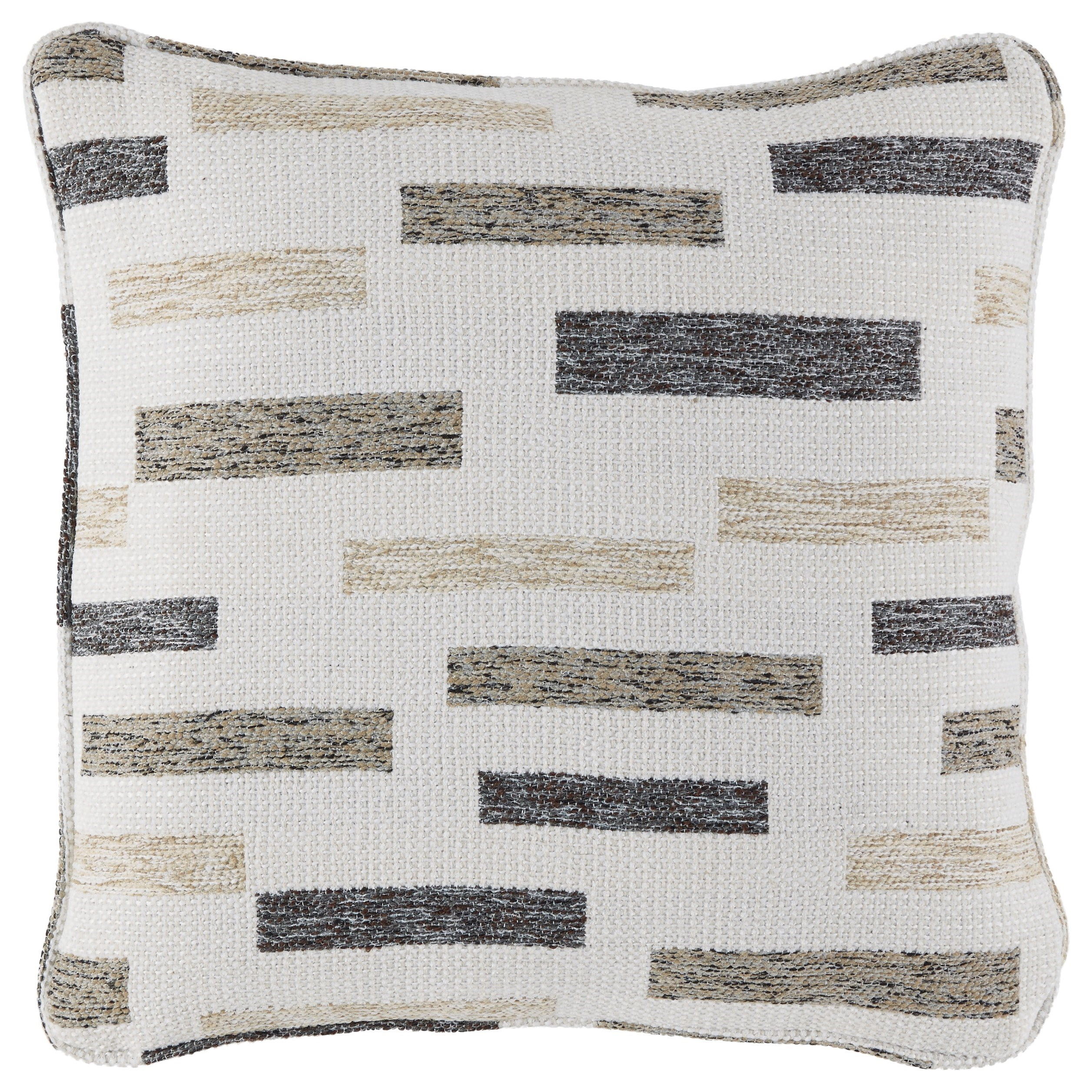 Pillows Crockett Black/Brown/Cream Pillow by Signature Design by Ashley at Carolina Direct