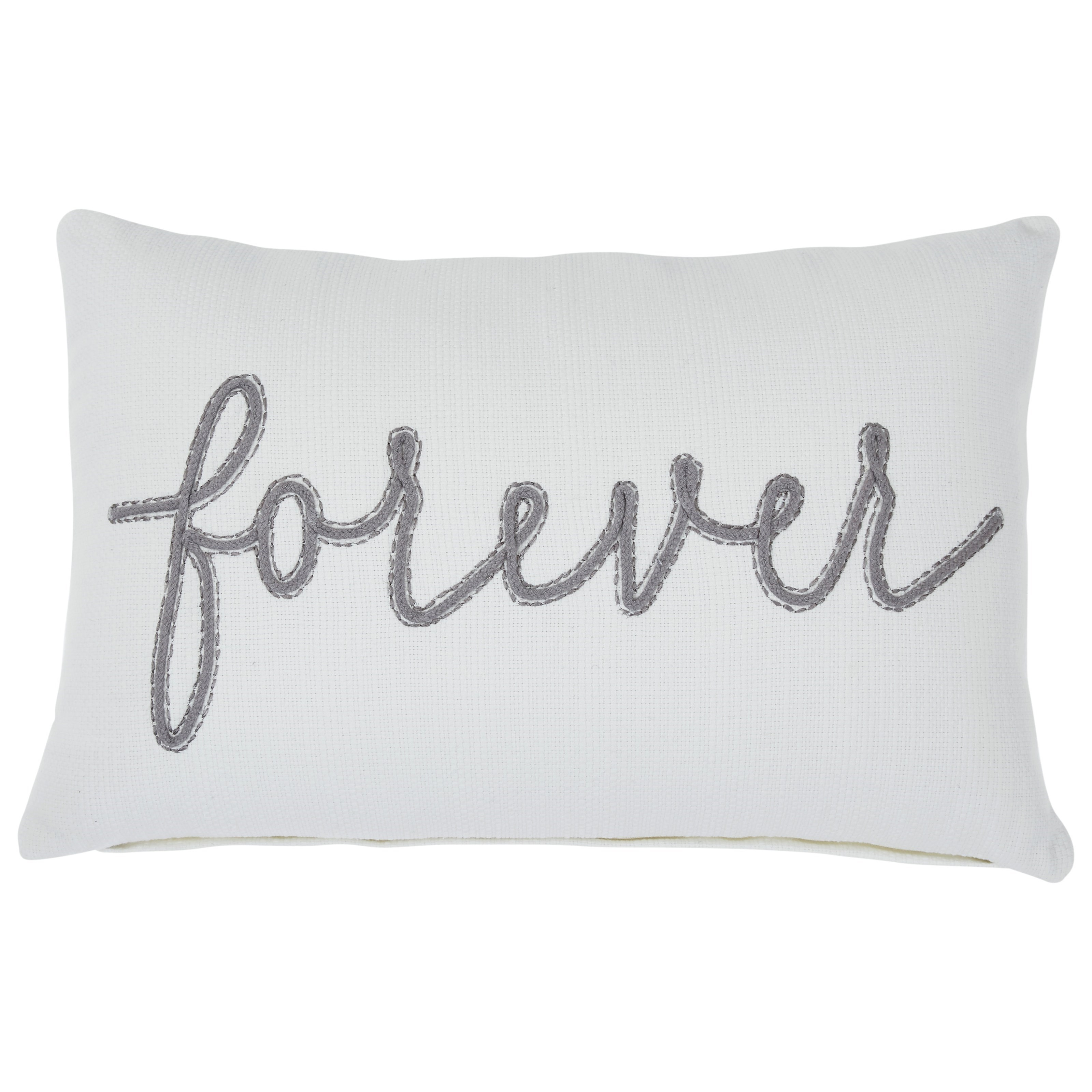 Pillows Forever White/Gray Pillow by Signature Design by Ashley at Northeast Factory Direct