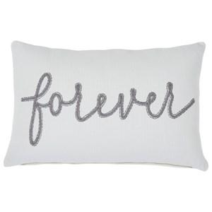 Forever White/Gray Pillow
