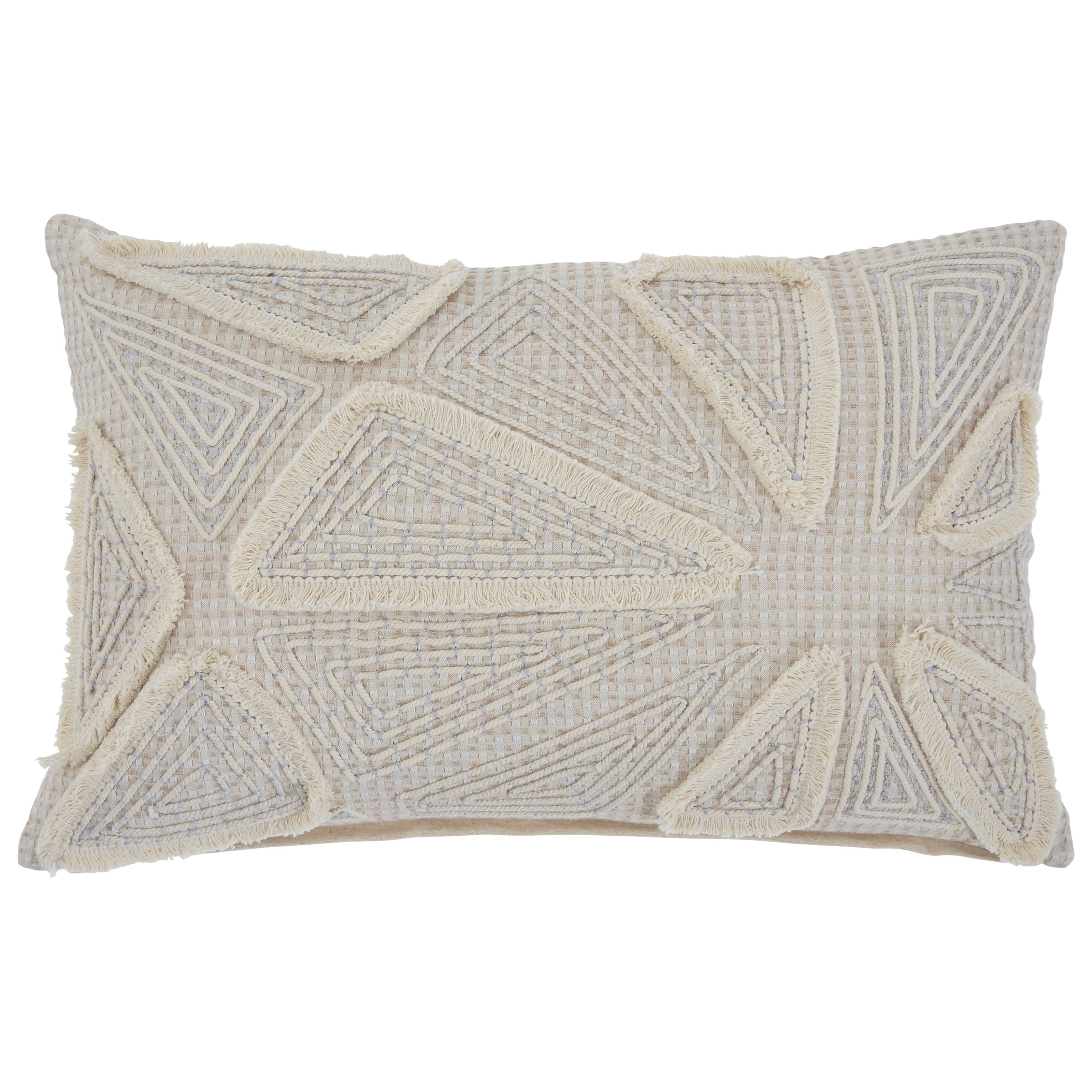 Pillows Irvetta Cream/Taupe Pillow by Signature Design by Ashley at Miller Waldrop Furniture and Decor