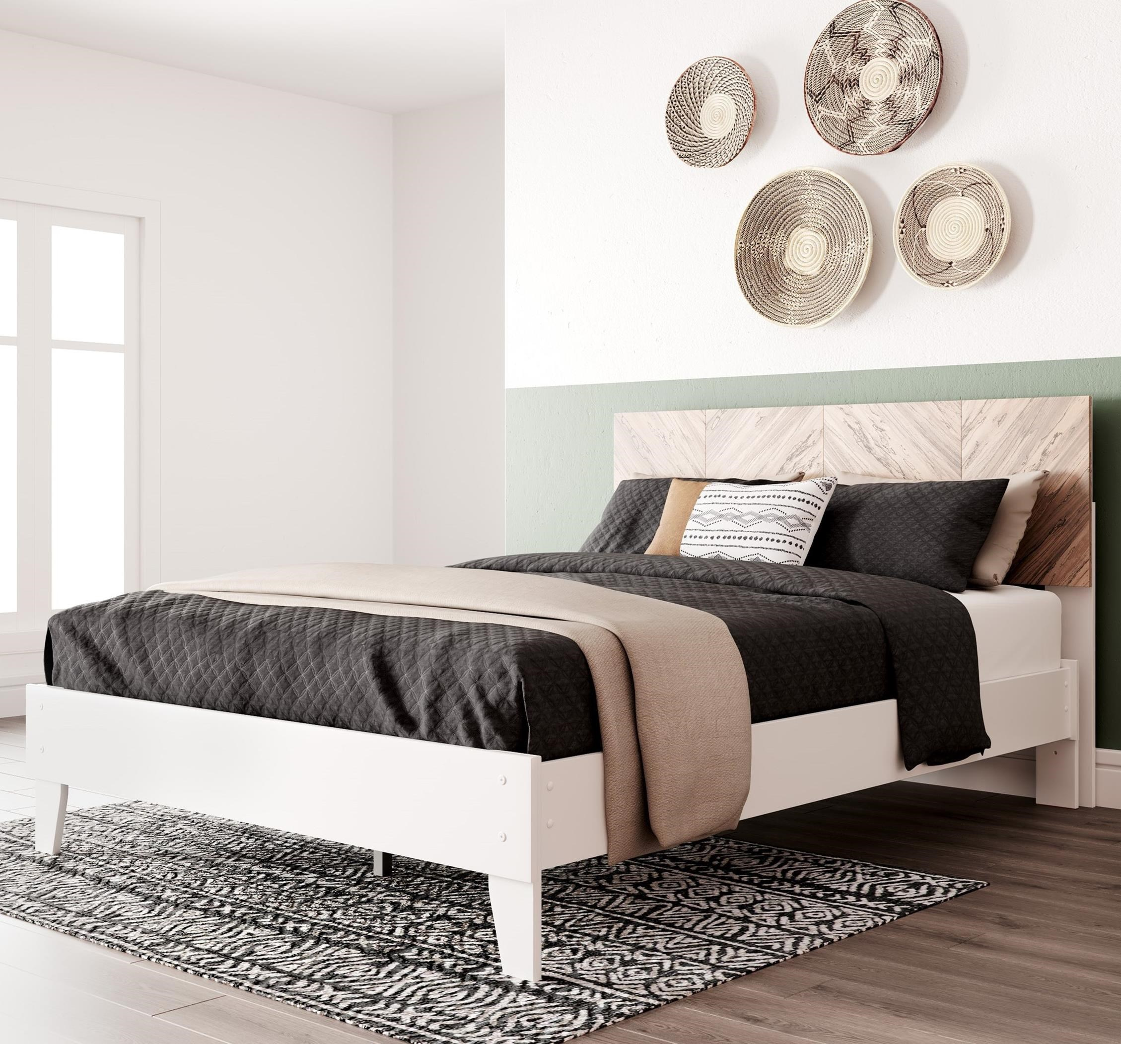 Piperton Queen Panel Platform Bed by Signature Design by Ashley at Northeast Factory Direct