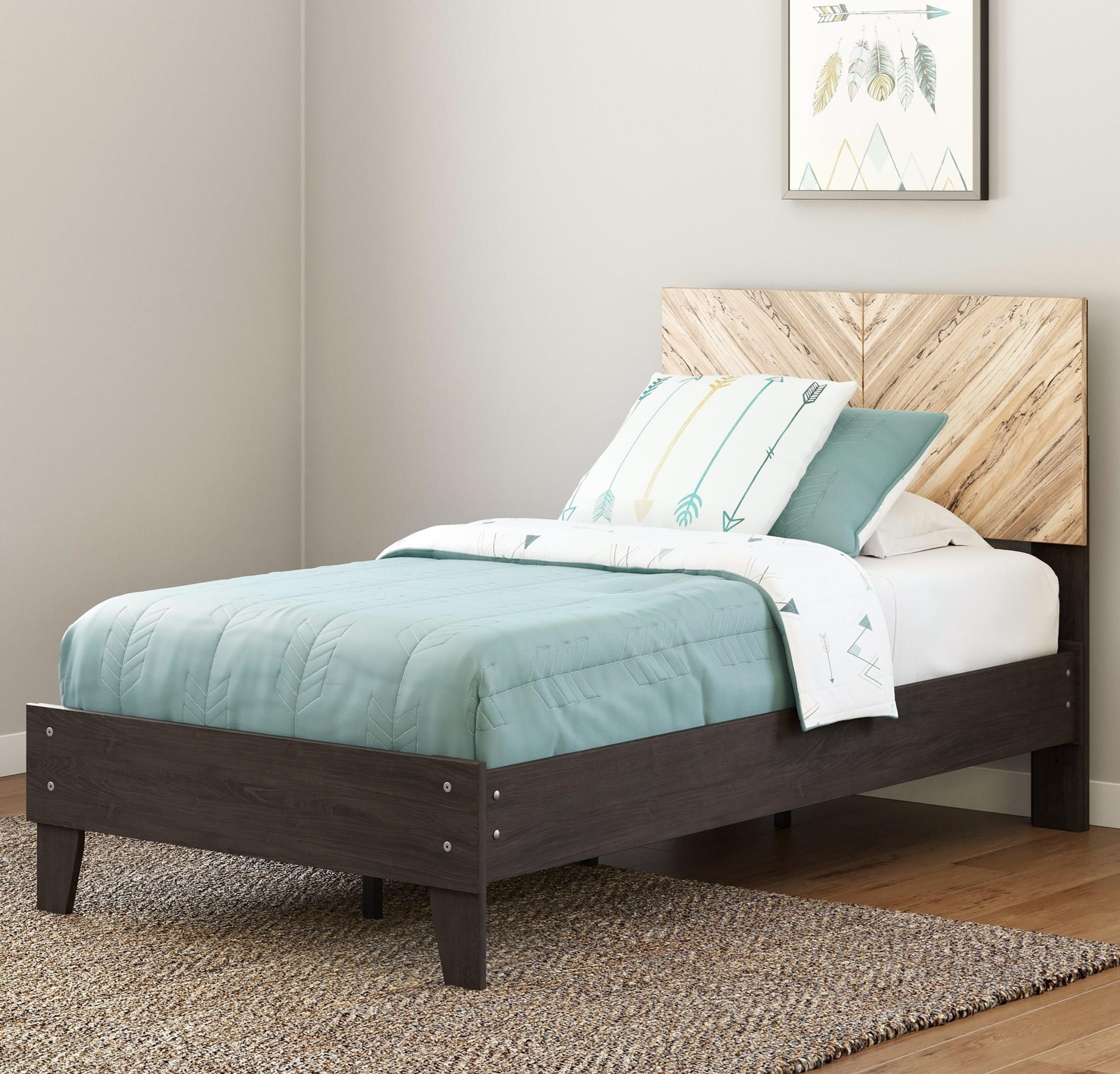 Piperton Twin Panel Platform Bed by Signature Design by Ashley at Northeast Factory Direct