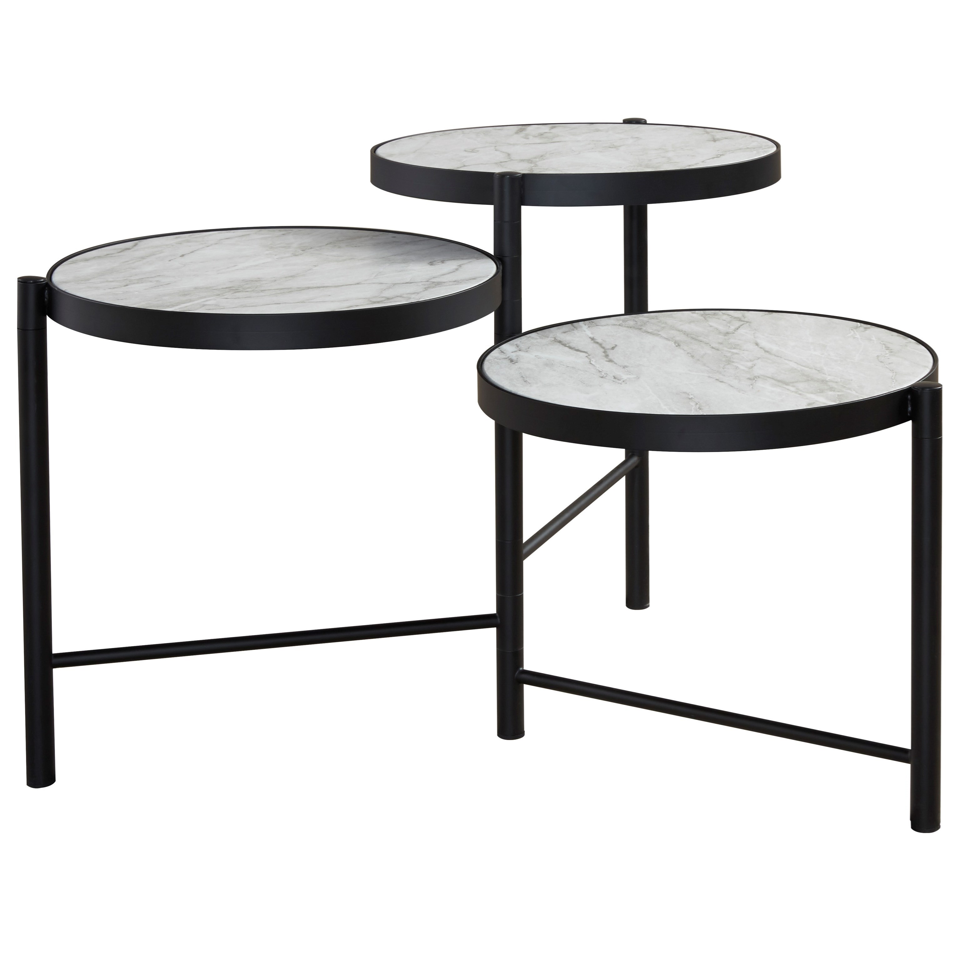 Plannore Round Cocktail Table by Signature Design by Ashley at HomeWorld Furniture