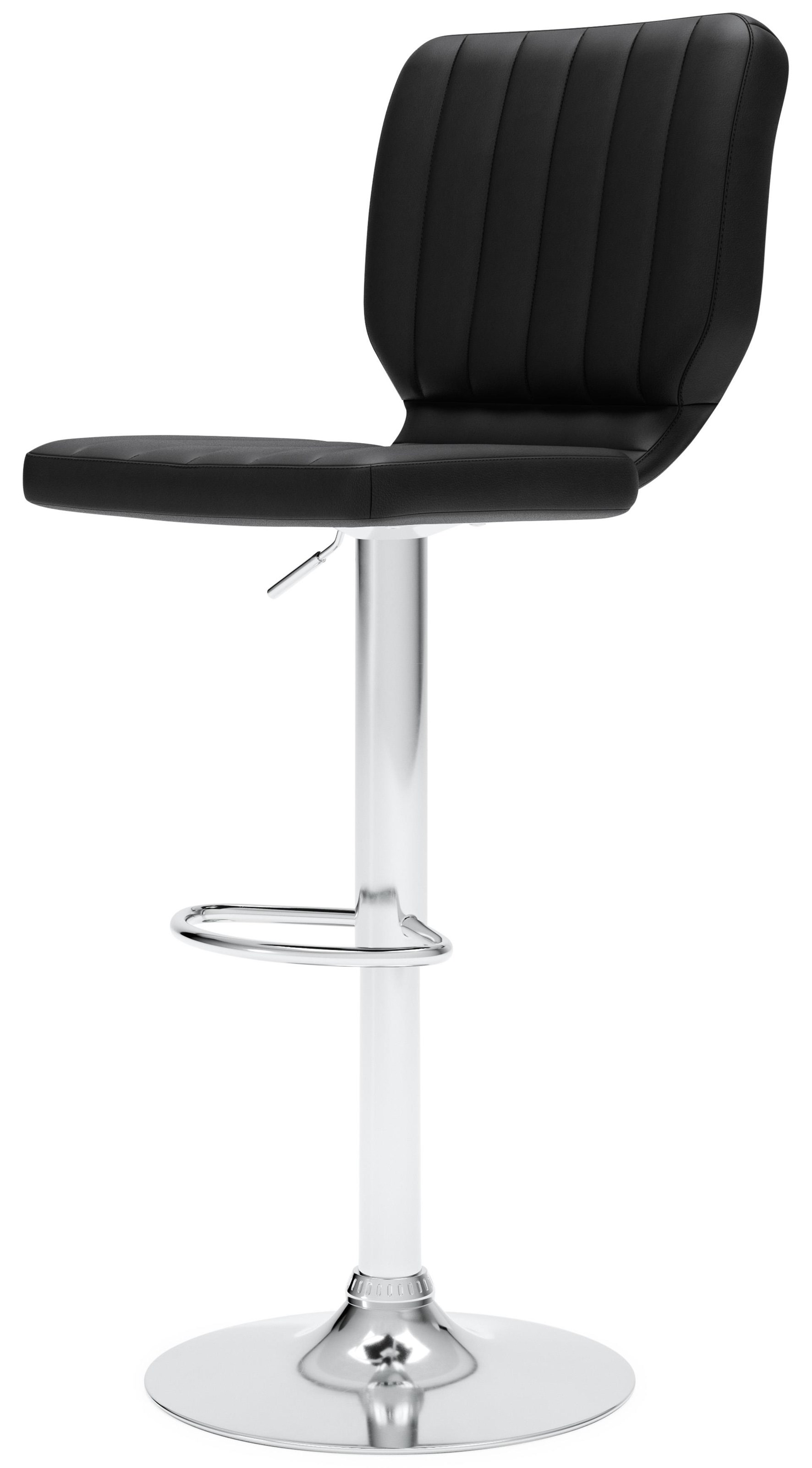Pollzen Adjustable Height Upholstered Swivel Bar Sto by Signature Design by Ashley at Sam Levitz Outlet