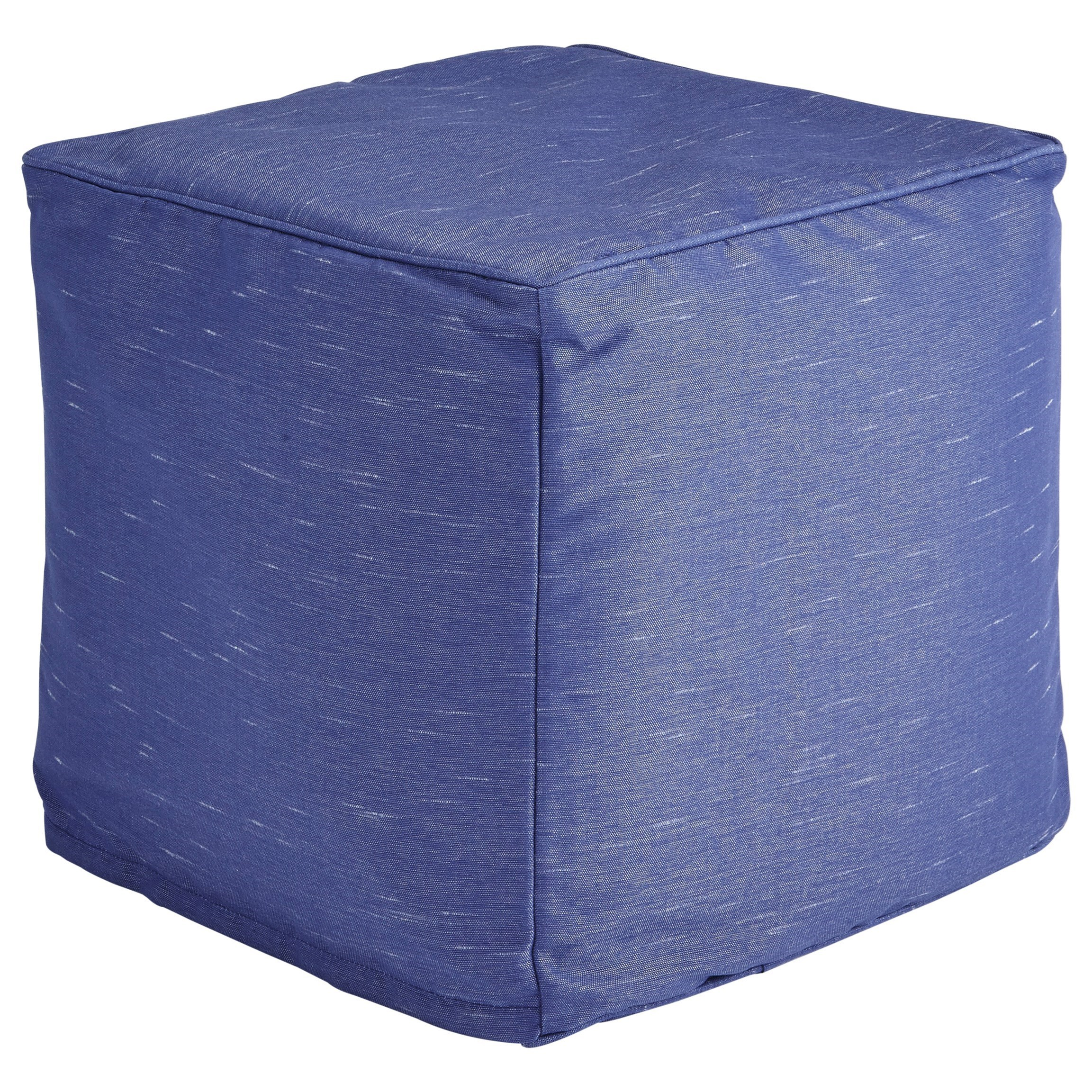 Poufs Catalina Blue Pouf by Signature Design by Ashley at Lapeer Furniture & Mattress Center