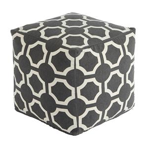 Signature Design by Ashley Poufs Geometric - Gray Pouf