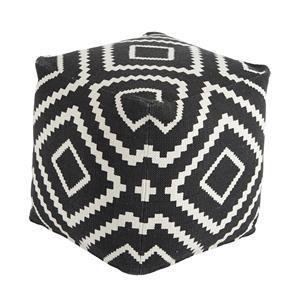 Signature Design by Ashley Poufs Geometric - Black Pouf