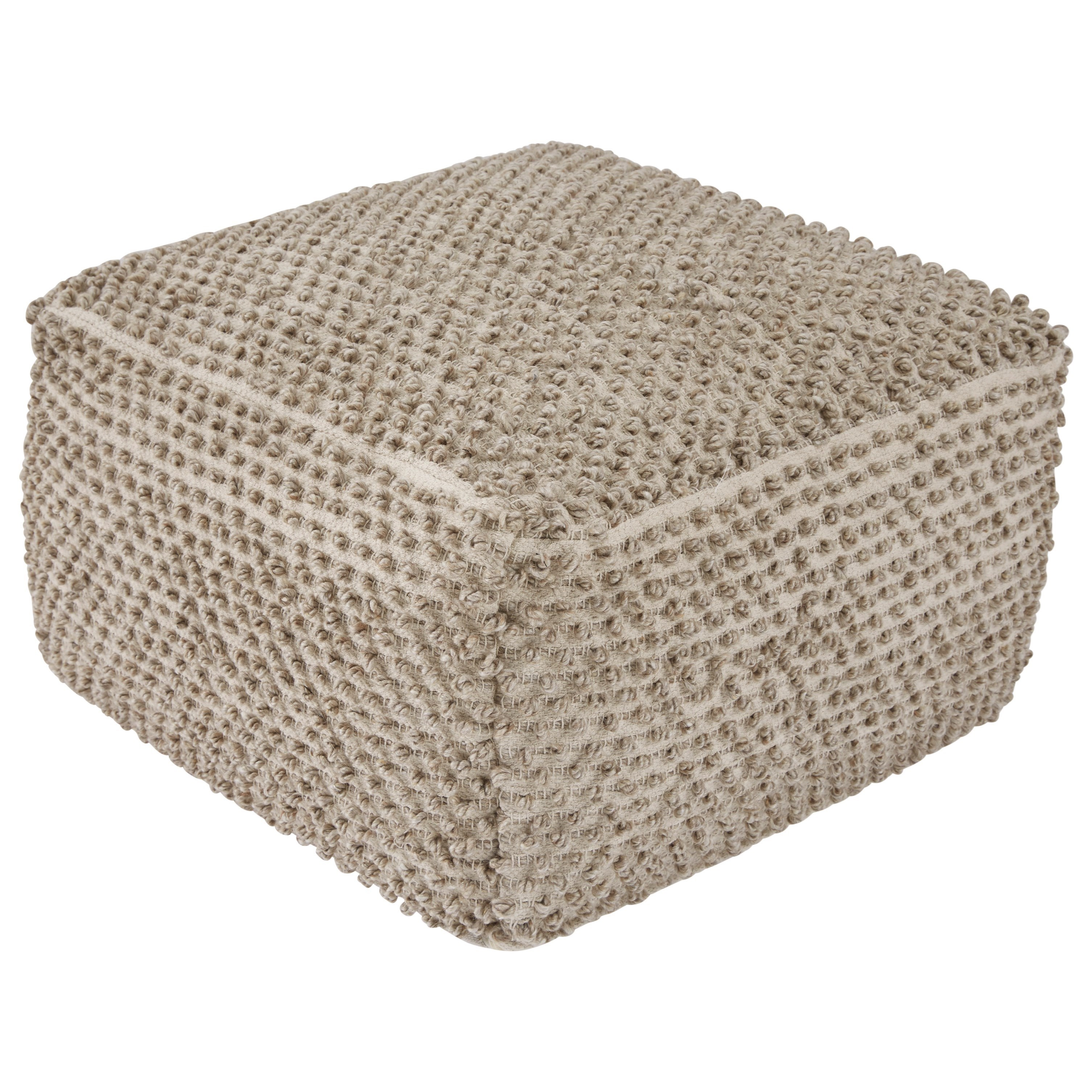 Poufs Hedy Natural/Ivory Pouf by Signature Design by Ashley at Northeast Factory Direct