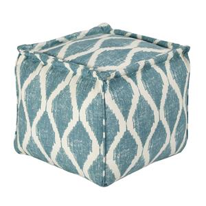 Signature Design by Ashley Poufs Bruce - Teal/White Pouf