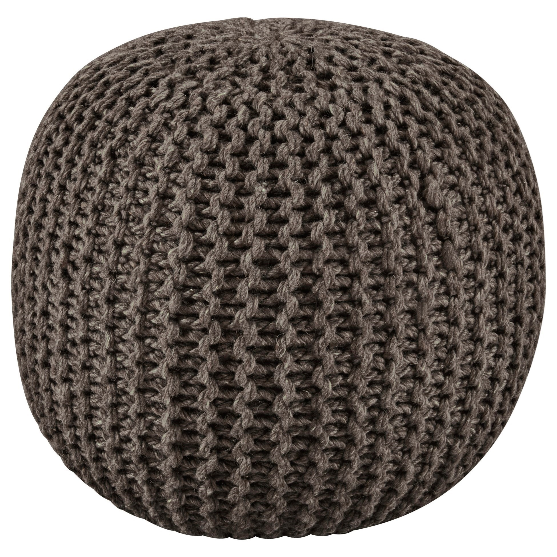 Poufs Latricia Charcoal Pouf by Signature Design by Ashley at Northeast Factory Direct