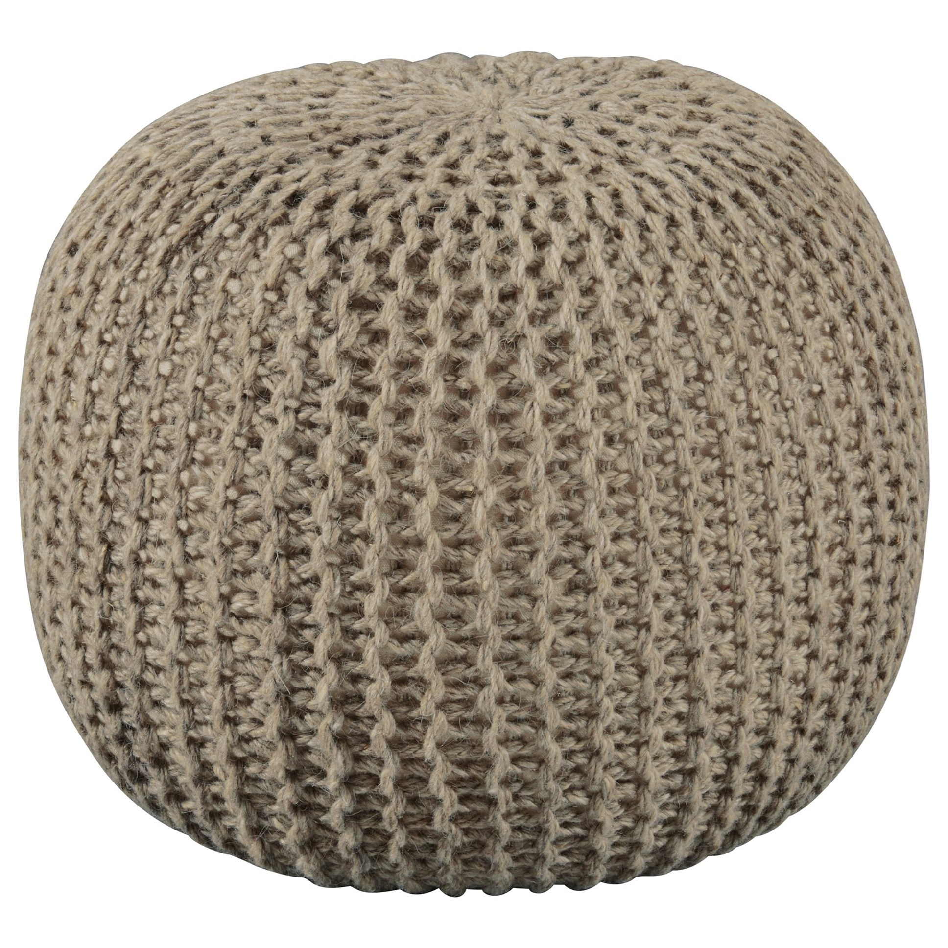 Poufs Latricia Natural Pouf by Benchcraft at Virginia Furniture Market