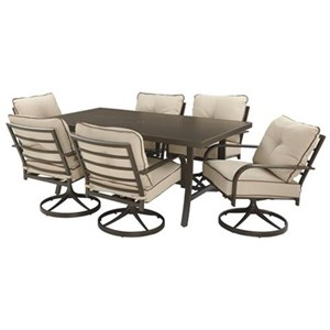 Outdoor Dining Set with Six Chairs