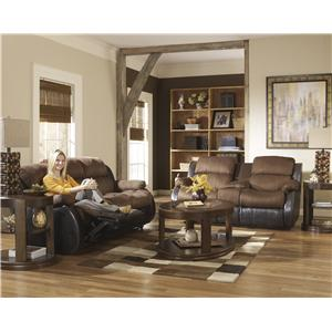 Signature Design by Ashley Presley - Espresso Reclining Living Room Group