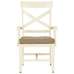 Farmhouse Style Arm Chair with Cushion